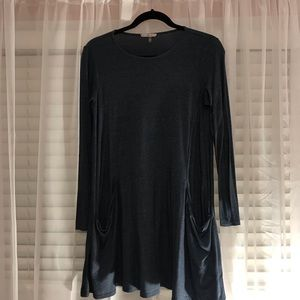 SOPRANO AT NORDSTROM LONG SLEEVE T-SHIRT DRESS